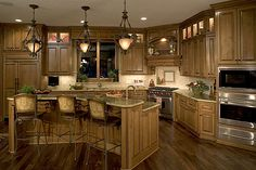 Great upper cabinets with lights
