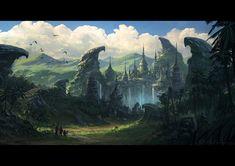 Lost City, Todor Hristov on ArtStation at https://www.artstation.com/artwork/lost-city-49622653-8d08-4874-b912-ba78528cd204