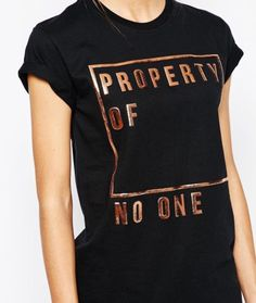 Property of no one feminist t-shirt