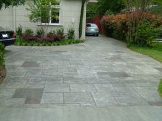 Stained Concrete Driveways Stamp Stain Driveway Yelp