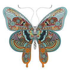 alas de mariposa: hermosa página para colorear mariposa en un estilo exquisito Vectores