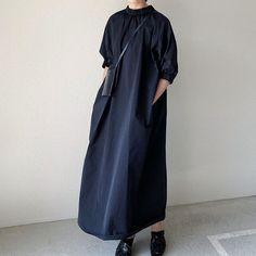 Maxis, Maxi Dress With Sleeves, Half Sleeves, Vintage Long Dress, Half Sleeve Shirts, Collar Dress, Shirt Dress, Elegant Dresses, Casual Elegant Dress Code