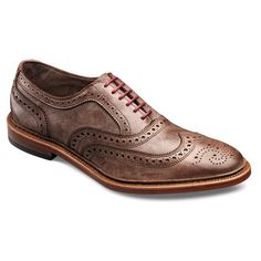 Neumok - Unlined Wingtip Lace-up Oxford Men's Casual Shoes by Allen Edmonds Brown Distressed Leather Best Shoes For Men, Men S Shoes, Male Shoes, Sock Shoes, Shoe Boots, Derby, Gentleman Shoes, Brown Dress Shoes, Brown Oxfords