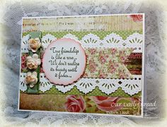 Stamps - Our Daily Bread Designs My Friend, ODBD Blushing Rose Paper Collection, ODBD Custom Beautiful Borders Dies,ODBD Custom Pennants Die,ODBD Custom Zinnia and Leaves Die