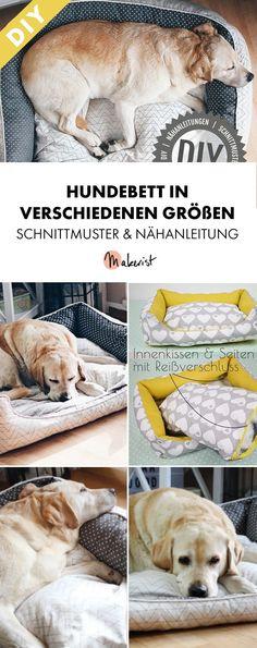 Kuscheliges Hundebett in verschiedenen Größen - Nähanleitung und Schnittmuster via Makerist.de
