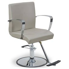 """$219 """"Fontaine"""" Sand Styling Chair W/ Round Base T-Bar, angle"""