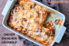 Great simple & quick recipe for any dinner night! #Casserole #Mexican #Enchilada #Dinner #ChickenCasserole #Chicken