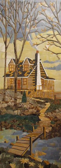 Mountain House Quilt...Magnificent! Not necessarily want to make this particular quilt, but want to try my hand at art quilts - amazing!