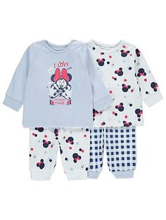 These Minnie Mouse pyjamas are the perfect bedtime buddy. Made from cotton-rich fabric for a super soft and snug finish, both set comes with a long sleeve to. Baby Bath Seat, Baby Bath Time, Outfits Niños, Disney Outfits, Disney Clothes, Latest Fashion For Women, Kids Fashion, Baby Girl Strollers, Baby Shower Baskets