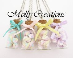 Hey, I found this really awesome Etsy listing at https://www.etsy.com/listing/222955252/necklace-with-bottle-of-marshmallows-in