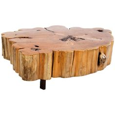 Cypress Tree-Trunk Coffee Table, circa 2000, France