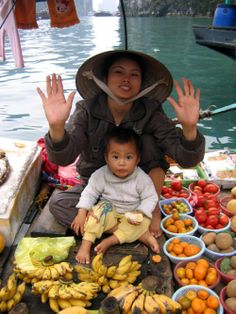 Vietnam's fruit market on the bow.