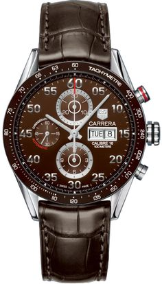 CV2A12.FC6236 NEW TAG HEUER CARRERA DAY DATE MENS LUXURY WATCH    Usually ships within 3 months - Click to view IN STOCK Luxury Watch Specials  - FREE Overnight Shipping - NO SALES TAX (Outside California)- WITH MANUFACTURER SERIAL NUMBERS- Brown Dial- Chronograph Feature - Day
