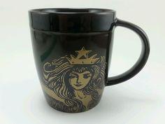 Original Starbucks brown gold 2012 siren Mermaid anniversary mug 12oz . #Starbucks