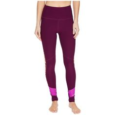 Marmot Adrenaline Tights (Deep Plum/Neon Berry) Women's Casual Pants ($75) ❤ liked on Polyvore featuring activewear, activewear pants and neon activewear