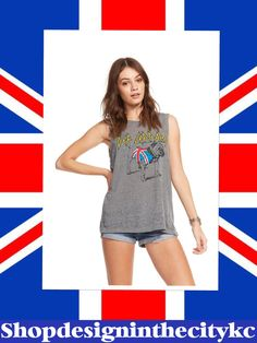 628ed8c2b3716 Rock out in this Def Leppard vintage inspired jersey tank. We love the side  slit and the versitility!