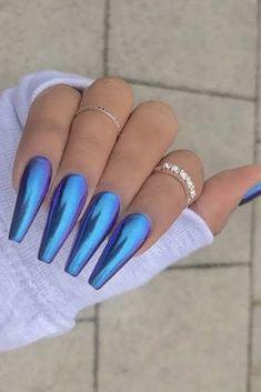 50 Cool Halloween Nail Art Designs for Creepy halloween nails; Cute Acrylic Nails, Acrylic Nail Designs, Nail Art Designs, Nails Design, Acrylic Nails Chrome, Perfect Nails, Gorgeous Nails, Hair And Nails, My Nails