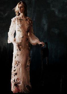 Hedvig Palm wearing Valentino Spring/Summer 2012 by Julia Hetta for Elle Sweden June 2012