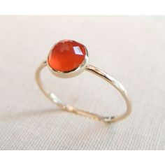 Rose Cut Carnelian Ring  http://www.luxuring.ca #handmade #rings #engagementring #rosegold #luxuring