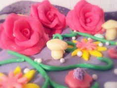 Fondant Roses - fantasy cake