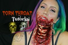 Torn Out Throat SIMPLE SFX Makeup!   Jade Madden  Jade is amazing, she has a YouTube channel with cool Halloween Makeup Tutorials and everyday makeup fun.