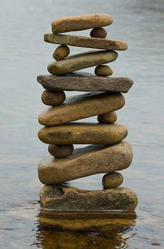Beautiful balanced stones