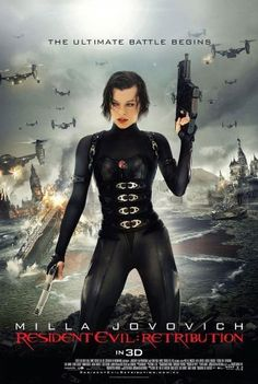 Resident Evil: Retribution [Poor]  This felt like watching the [cut] cut-scenes from a video game. OK, it's based on a video game, but this umpteenth installment shows more of the same trademark WS Anderson & Milla Jovovich action that we have seen before. Our heroine wakes in a secret prison and fights her way out - just like most action games. Even the monsters are repeats of previous installments and the ending sets up for the next installment - Resident Evil: Overkill?