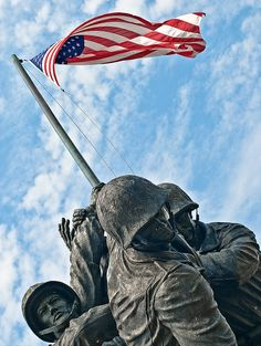 Iwo Jima U. Marine Corps Memorial and Monument, Washington, D. I Love America, God Bless America, Viaje A Washington Dc, American Freedom, American Flag, American Soldiers, American Pride, A Lovely Journey, Statues