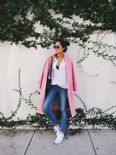 I'm having a major pink coat moment right now. Dressed down this pink Minusey pink oversized coat (http://rstyle.me/n/vx3grbgzq7) with a simple button down and my favorite pair of Anine Bing skinny jeans that fit like a glove (http://rstyle.me/n/vd45dbgzq7) and a pair of Converse Chuck Taylors (http://rstyle.me/n/vx3g9bgzq7). http://www.songofstyle.com/2015/01/having-a-pink-coat-moment.html