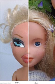 Ms Singh also began sharing before and after photos of the doll to show their dramatic transformation