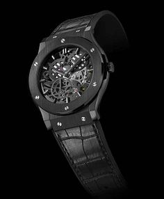 www.watchtime.com | watch to watch  | Hublot Classic Fusion Classico Ultra Thin All Black | Hublot Fusion Skeleton mood 560