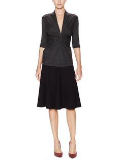 LAFAYETTE 148 NEW YORK - Pleated A-Line Knee-Length Skirt