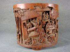 Wonderful Chinese Bamboo Carved Brush Pot