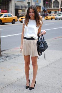 cute pleated skirt