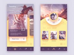 Gamer network UI by Sahil Sadigov - Dribbble