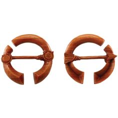 Pair of Sabo Wood Warrior Pendant Hoops - from Urban Star Organics. More info: http://www.steelnavel.com/product.asp?ID=6608