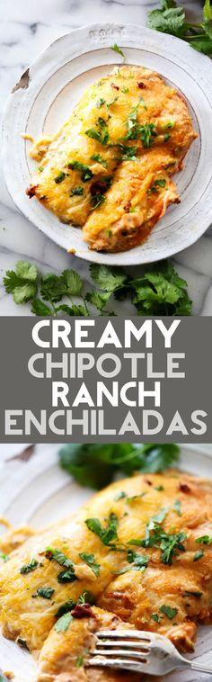 Creamy Chipotle Ranch Enchiladas