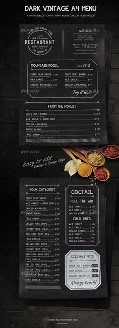 Simple Restaurant Menu Print templates, Food menu and Menu - food menu template