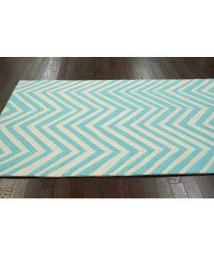 Aqua Jadida Wool Rug
