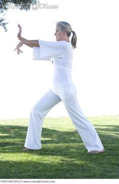 TAI CHI | MODEL RELEASED. Tai chi. Woman performing Tai chi exercises. [F0011509 ...