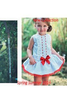 Vestido de niña sin mangas blanco Dolce Petit