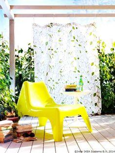 Un fotoliu-lămâie pentru ca statul afară să pară mai răcoritor www.IKEA.ro/fotoliu_IKEA_PS_VAGO
