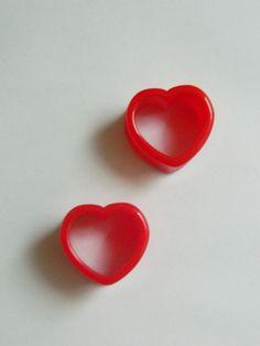 par de alargador plug de coração vazado