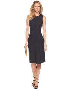 Drape-Front Sheath Dress by Michael Kors at Bergdorf Goodman.