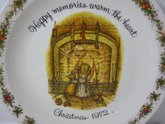 Holly Hobbie Collector Plate - Commemorative Edition - Happy Memories Warm the Heart Christmas 1972 - Hanging Decorative Plate by littlewoodenhouse on Etsy