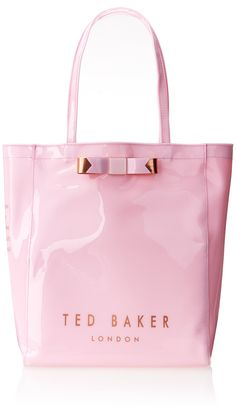 Ted Baker Plain Bow Icon Shoulder Bag,Dusky Pink,One Size