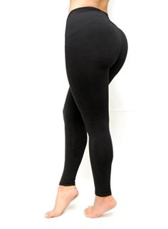 9c28e08a8a Curvify Womens Butt Lifting Shapewear Leggings with High Rise Waist Control  Thigh Slimmers L Fits a