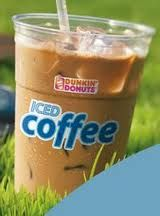 Dunkin Donuts French Vanilla Iced Coffee, extra skim milk and 4 splenda. BOOM