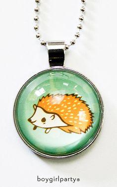 Orange Hedgehog Necklace