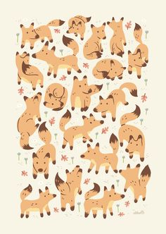 Foxes by Greg Abbott